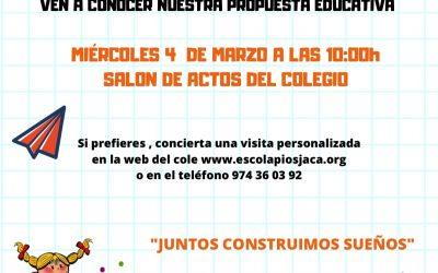 ¡Ven a conocer nuestra propuesta educativa!